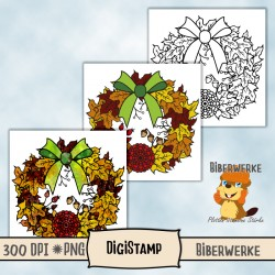 DigiStamp Herbstkranz