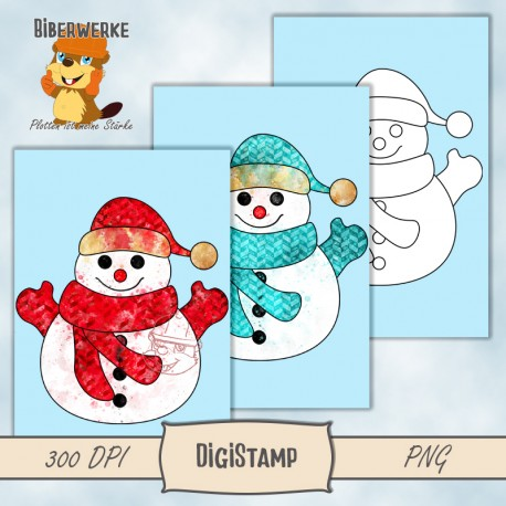 DigiStamps Schneemann