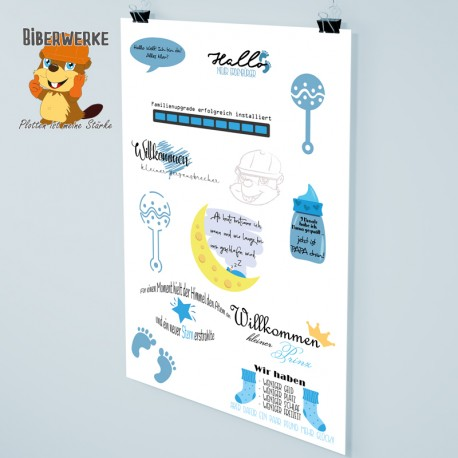 DigiStamps Baby blau