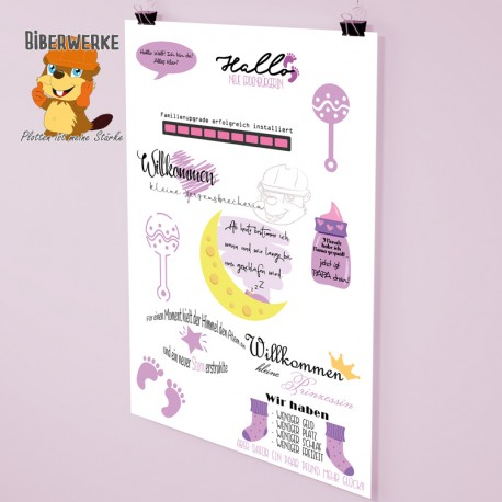 DigiStamps Baby rosa