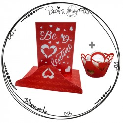"Valentinstags-Set Karte und Cupcake Wrapper ""Be my Valentine"""